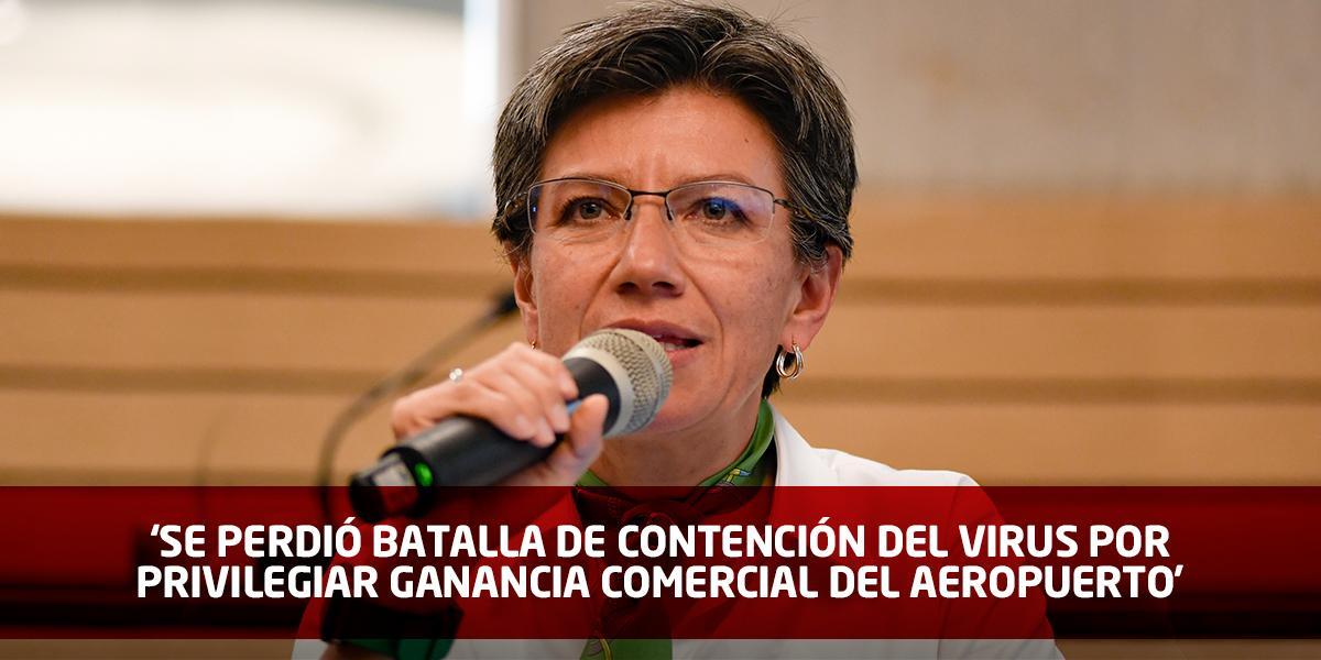 Duro reclamo de la alcaldesa de Bogotá al Gobierno por controles en El Dorado