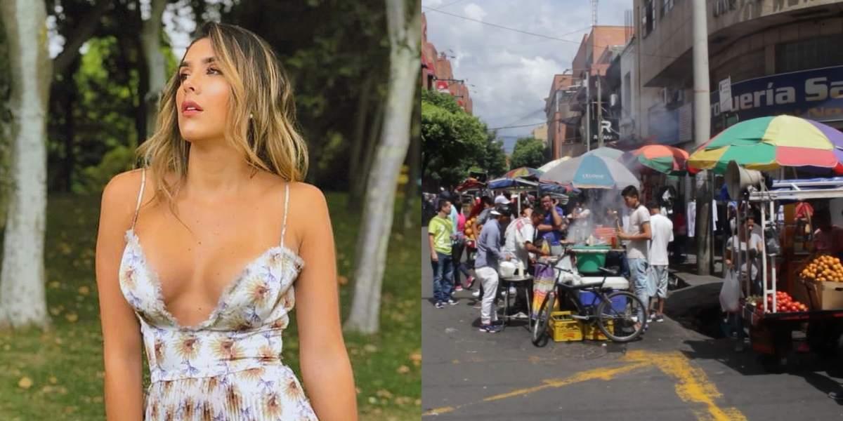 Daniela Ospina y vendedora ambulante