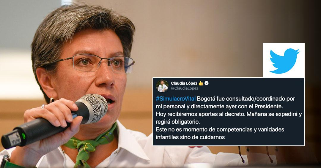 'No es momento de competencias y vanidades infantiles sino de cuidarnos': alcaldesa sobre decreto presidencial