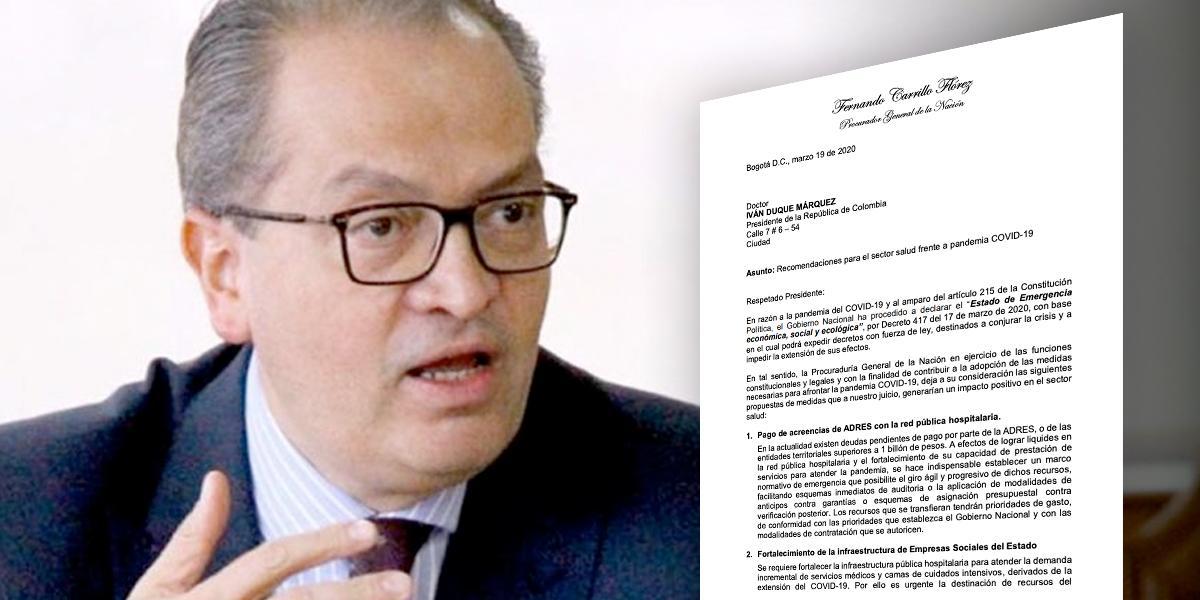 Procurador pide al presidente Duque congelar precios de los medicamentos
