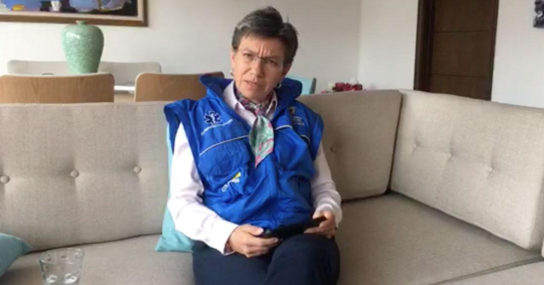 Claudia López da primer reporte del simulacro de aislamiento en Bogotá