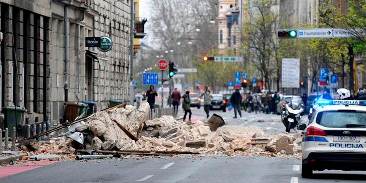Un sismo sacudió a Zagreb, Croacia en plena cuarentena