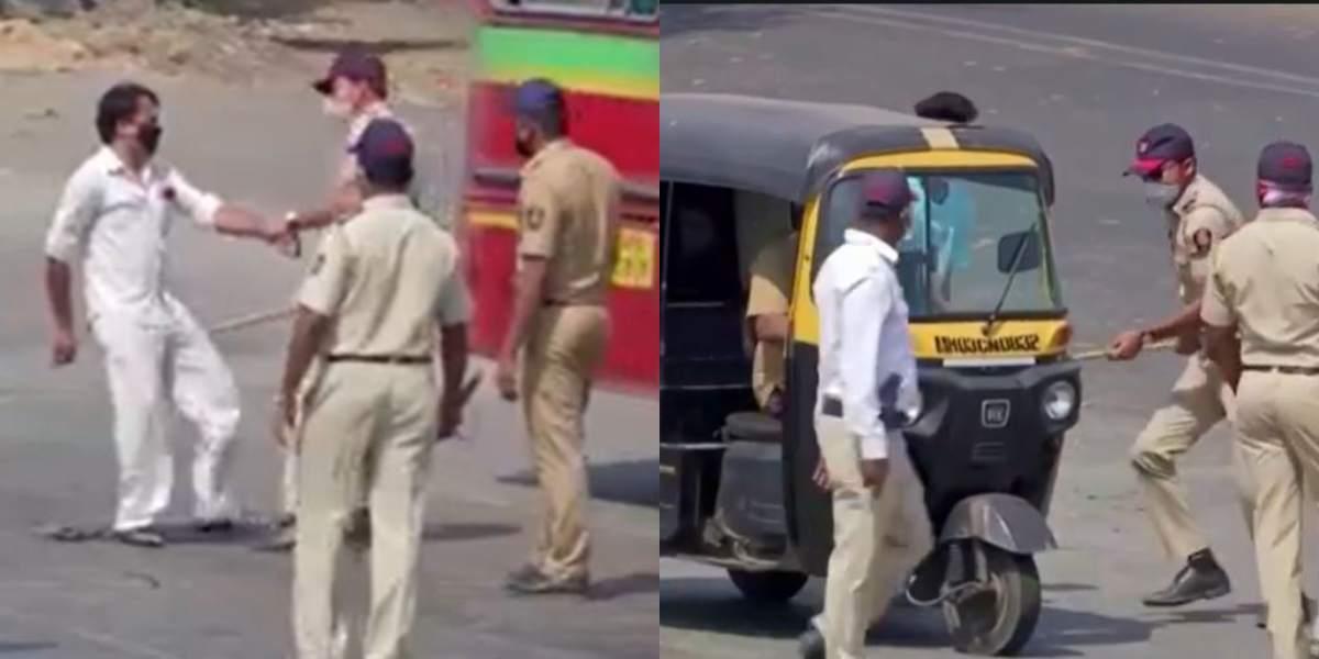 En india golpean a los infractores