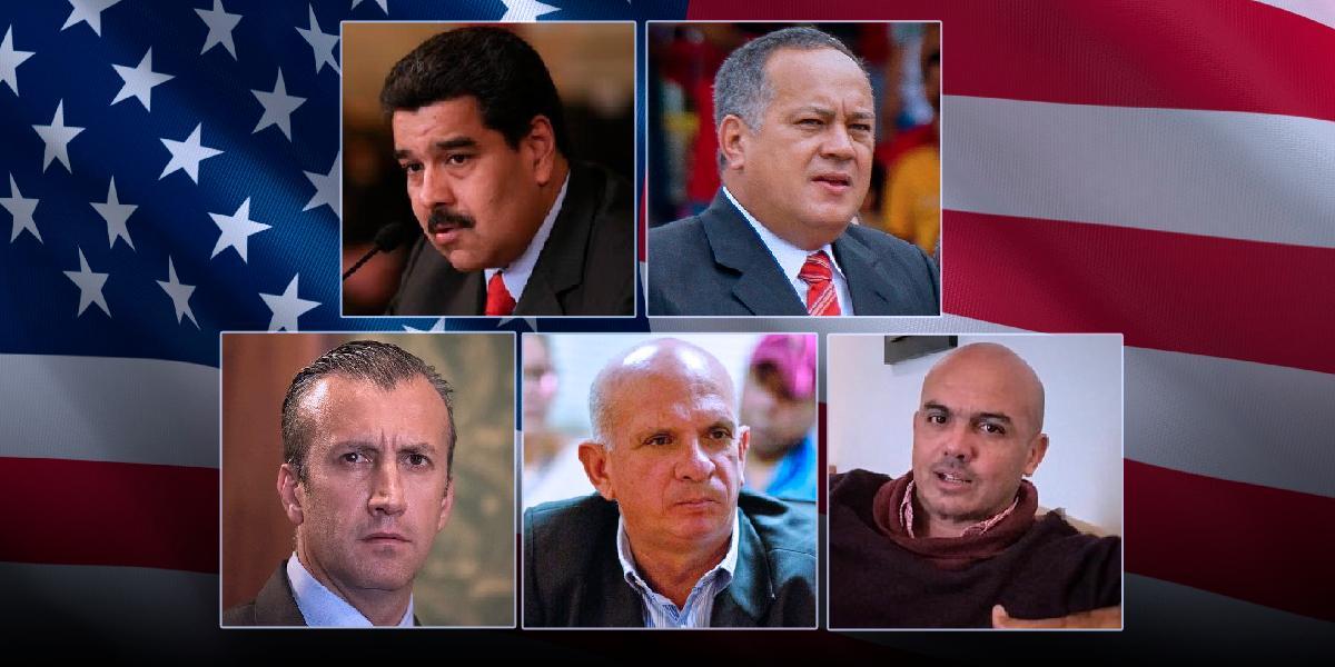 EE. UU. ofrece recompensa de 15 millones de dólares por captura de Maduro y otros funcionarios