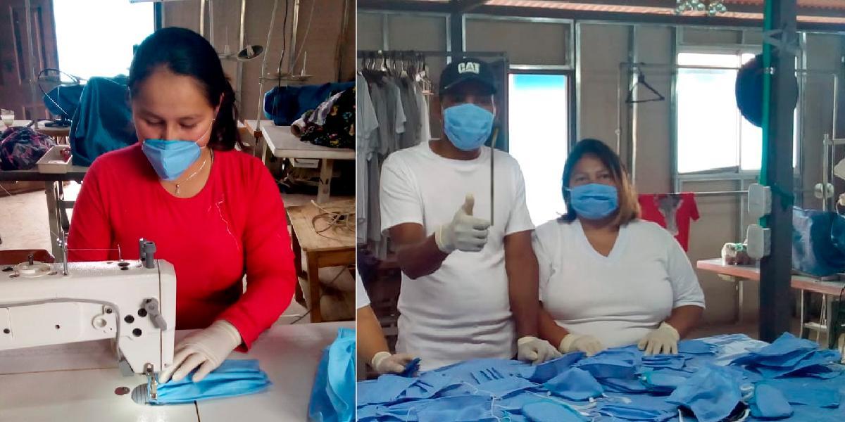 Ex-Farc y soldados fabrican tapabocas para prevenir coronavirus