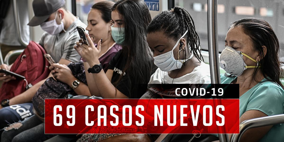 Covid-19: 608 casos en Colombia, 69 casos nuevos