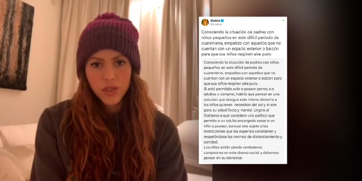 Polémica petición de Shakira para pasear niños en cuarentena, así como 'mascotas tienen derecho'