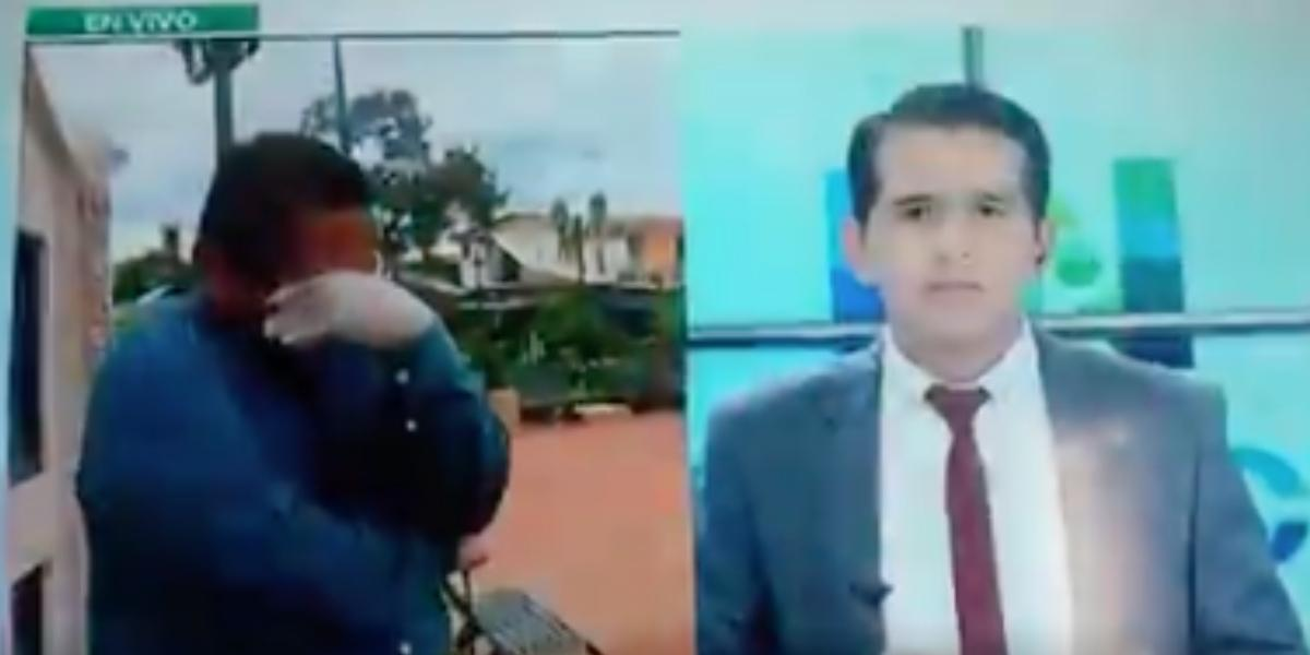 Periodista rompe en llanto en vivo ante crisis por coronavirus