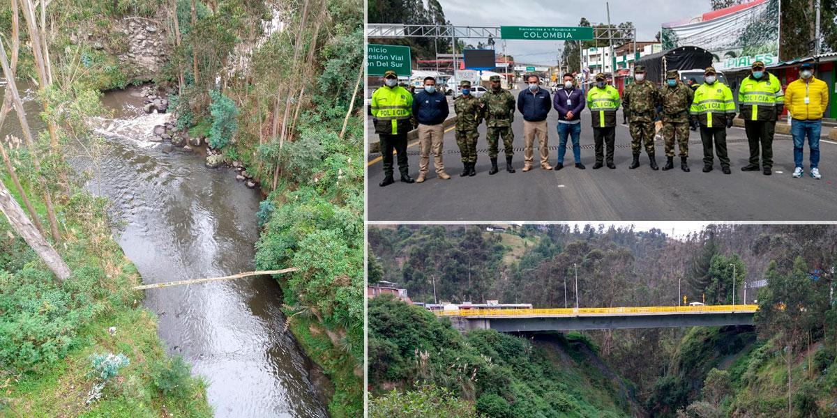 Autoridades visitan frontera Colombo-Ecuatoriana y algunos pasos ilegales en Ñarino