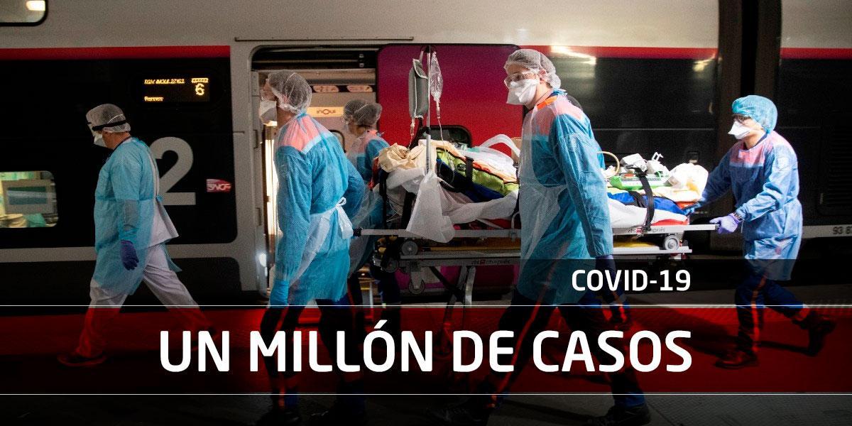 Más de un millón de casos confirmados y 50 mil muertes por COVID-19 en el mundo