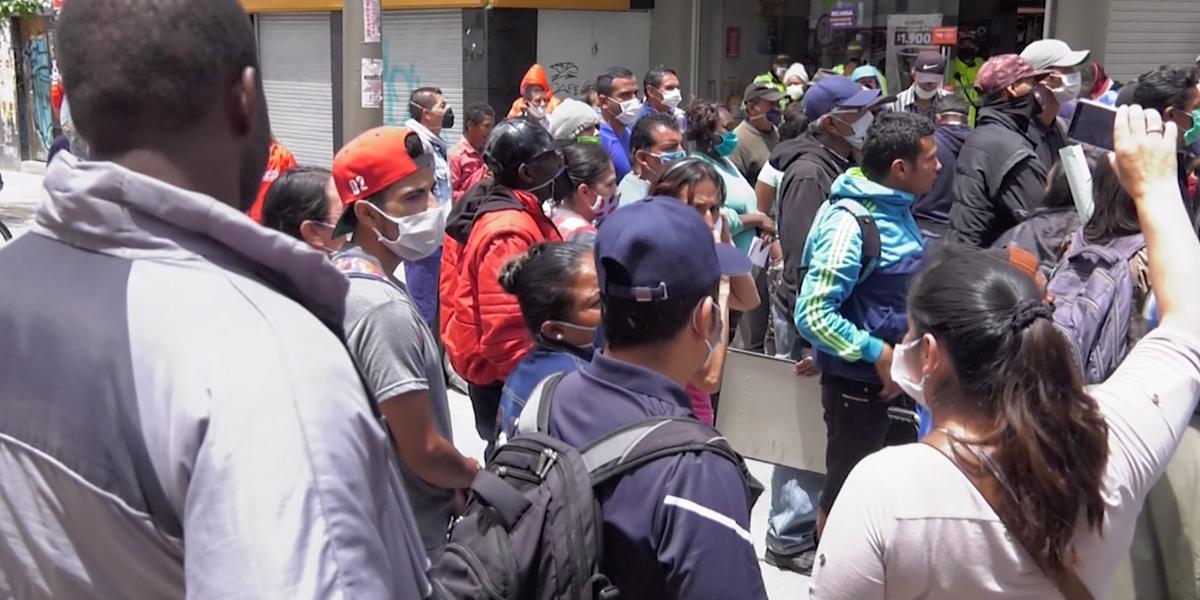 Boletín #4: Protesta de vendedores ambulantes y comunidad LGBTI para tener una cuarentena digna