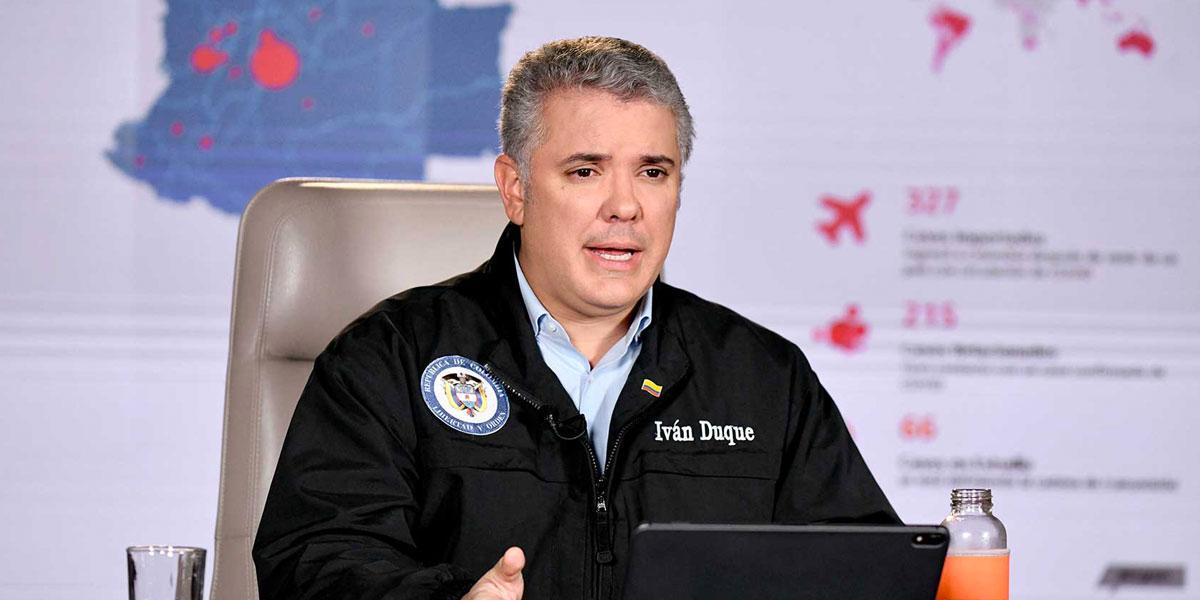 Pdte. Duque respondió preguntas sobre medidas adoptadas por coronavirus