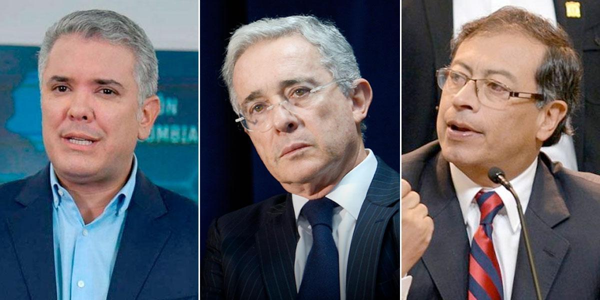 Iván Duque y Álvaro Uribe envían mensajes de apoyo a Gustavo Petro tras confirmar que tiene cáncer