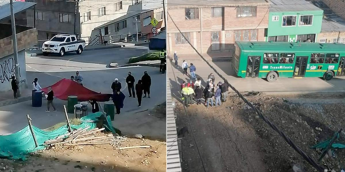 Habitantes de Usme protestan y exigen ayuda económica por crisis que trajo el COVID-19