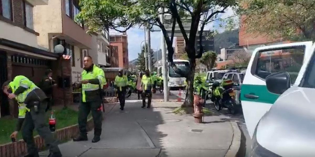 Capturan 41 personas en Usaquén, estaban enrumbados en plena cuarentena