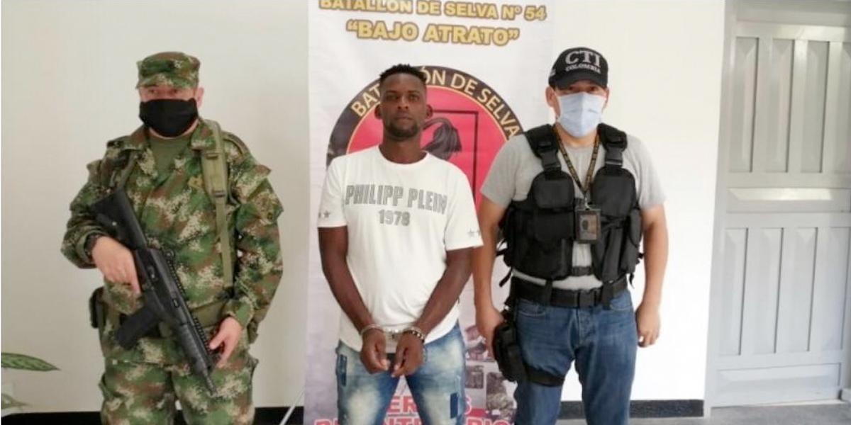 Cae alias 'Boquita', mayor agresor de reincorporados y defensores de derechos humanos en Chocó