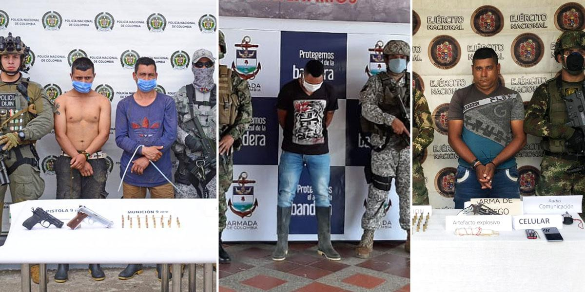 Duro golpe a grupos armados organizados en Chocó, Córdoba y Tolima