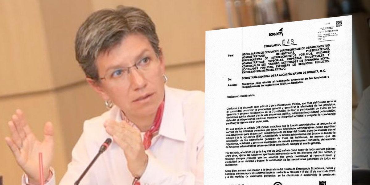 Alcaldesa ordena a más 50 mil trabajadores del Distrito regresar a las oficinas