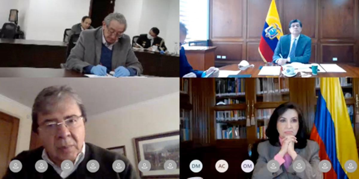 Cancilleres de Colombia y Ecuador presidieron VI reunión del Mecanismo 2+3 en materia de seguridad