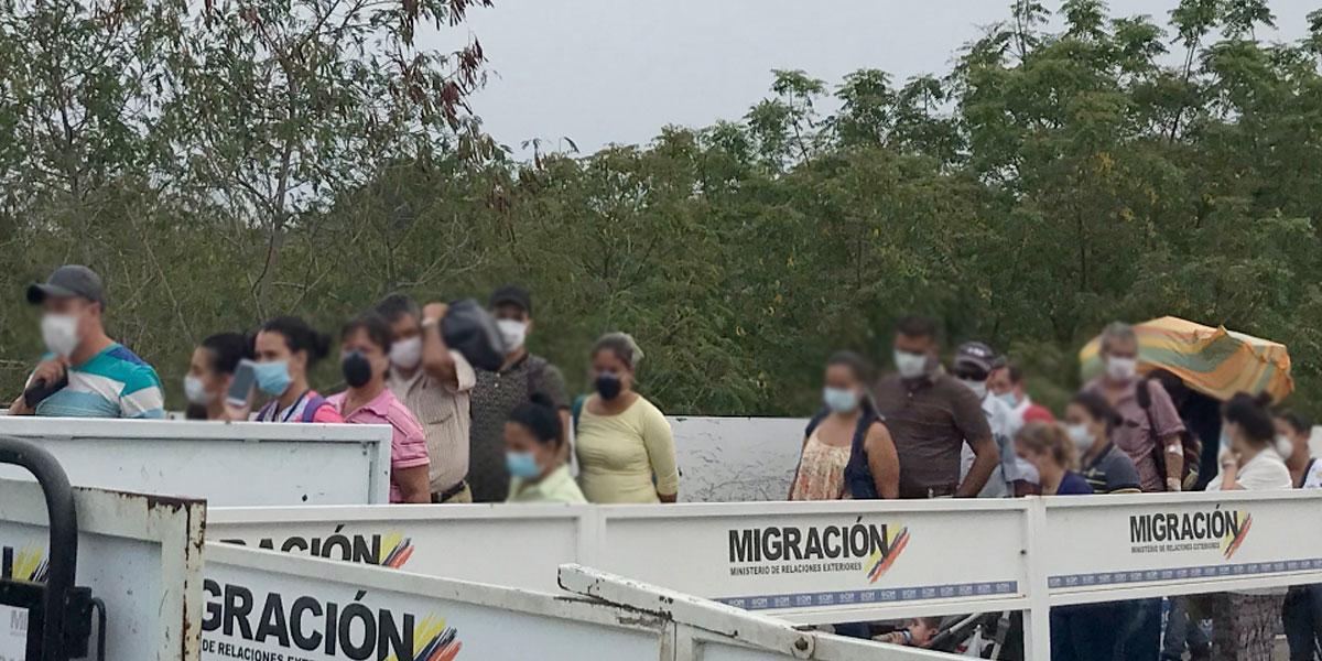 Migración Colombia habilitó corredor humanitario hacia fronteras de Arauca y Cúcuta