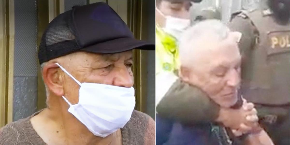 Inesperado acto de humildad de Néstor Novoa, vendedor ambulante de 70 años agredido por policía