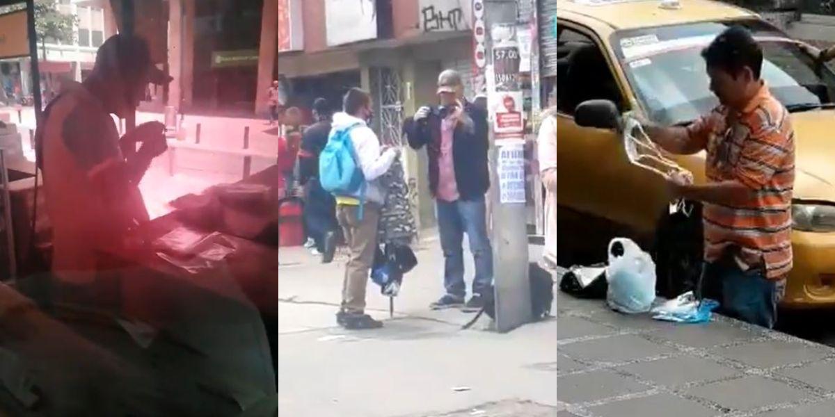 mal uso tapabocas vendedores informales videos virales