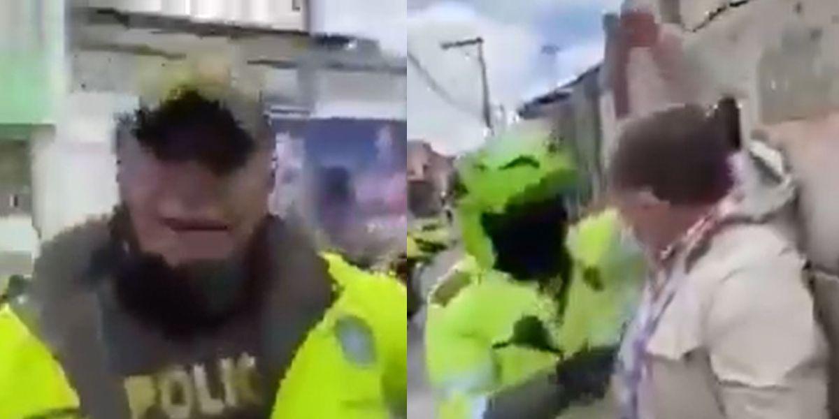 preseunta agresion policia adulto mayor