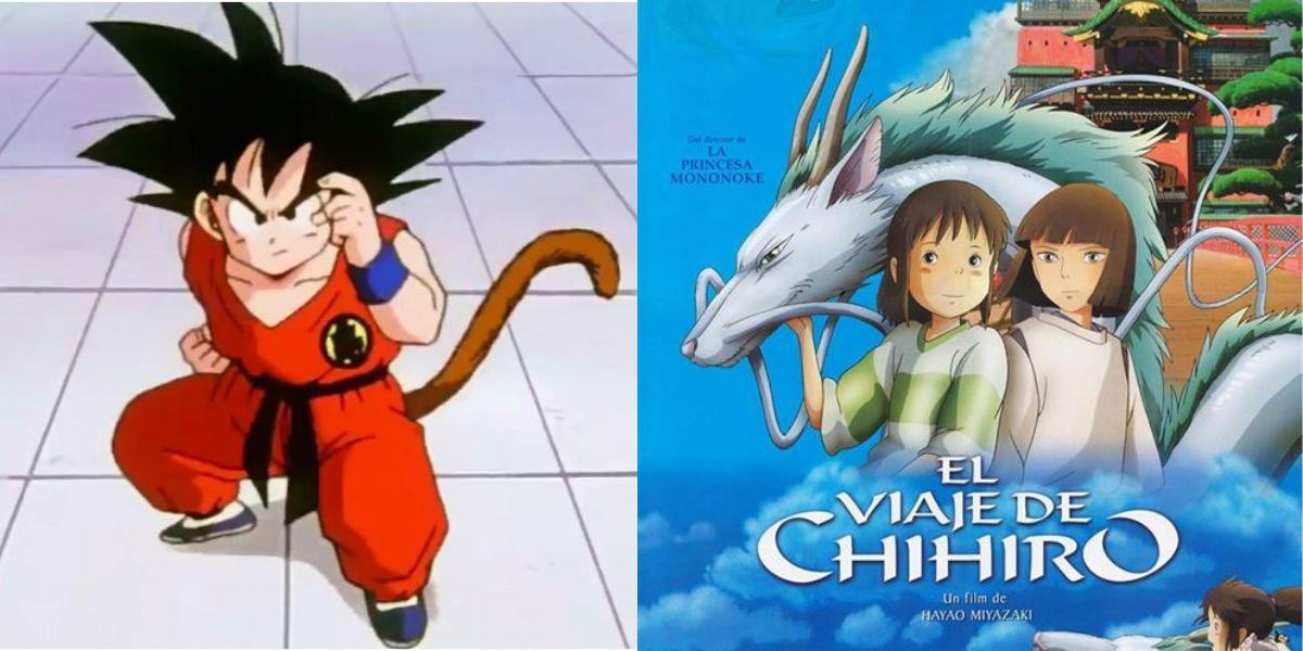 dragon ball goku studios ghibli el viaje de chihiro