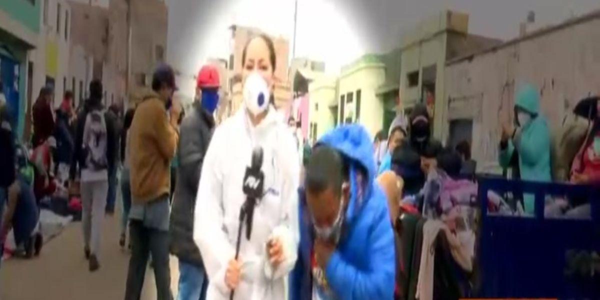 video le tose periodista la victoria peru