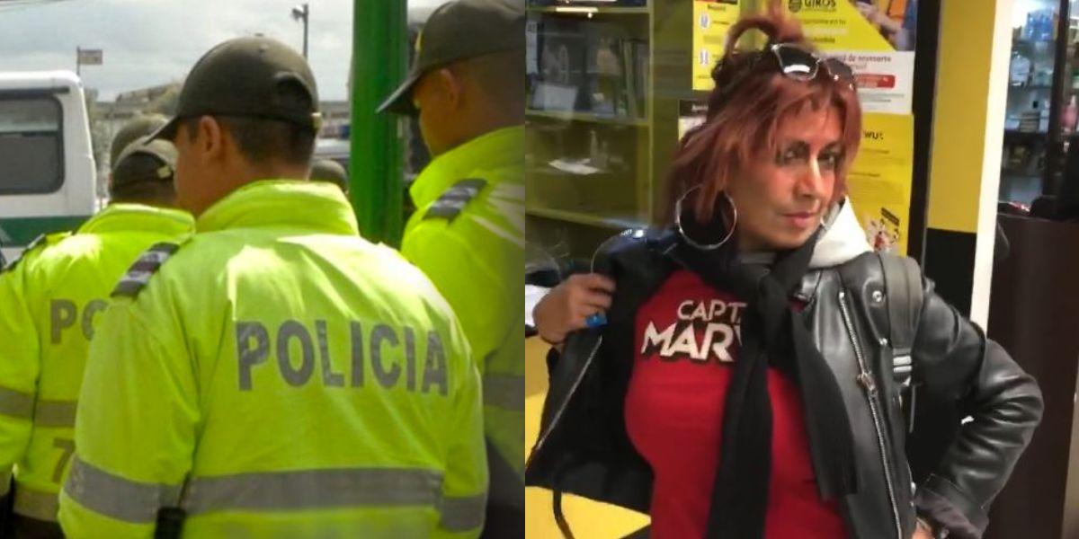 video viral mujer no usa tapabocas policia