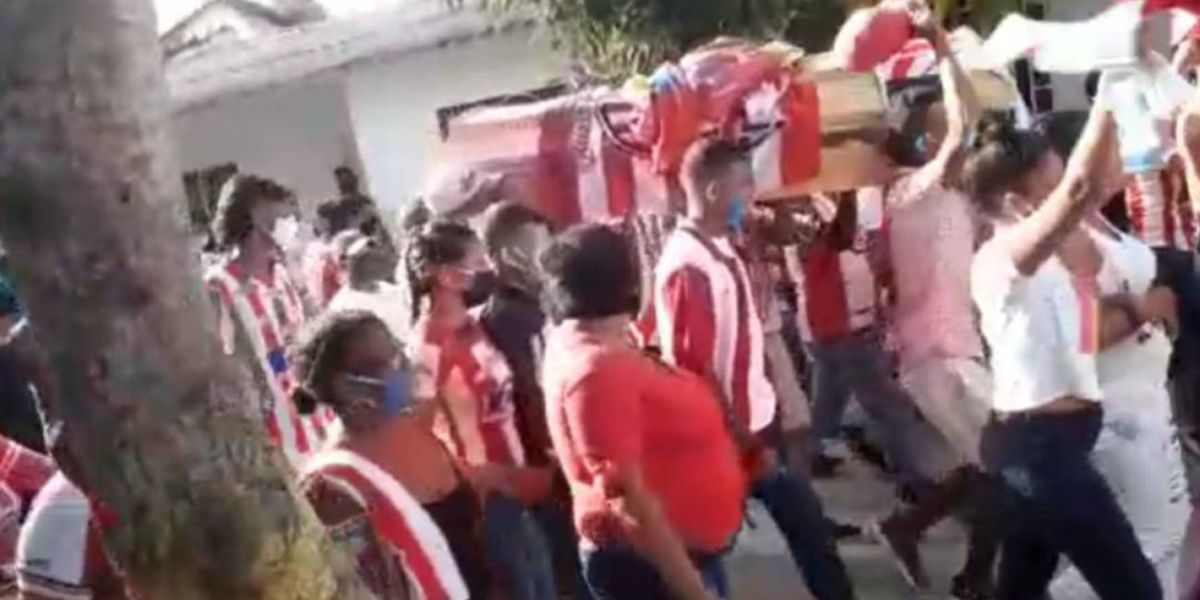video sepelio funeral hincha junior sabanagrande atlantico
