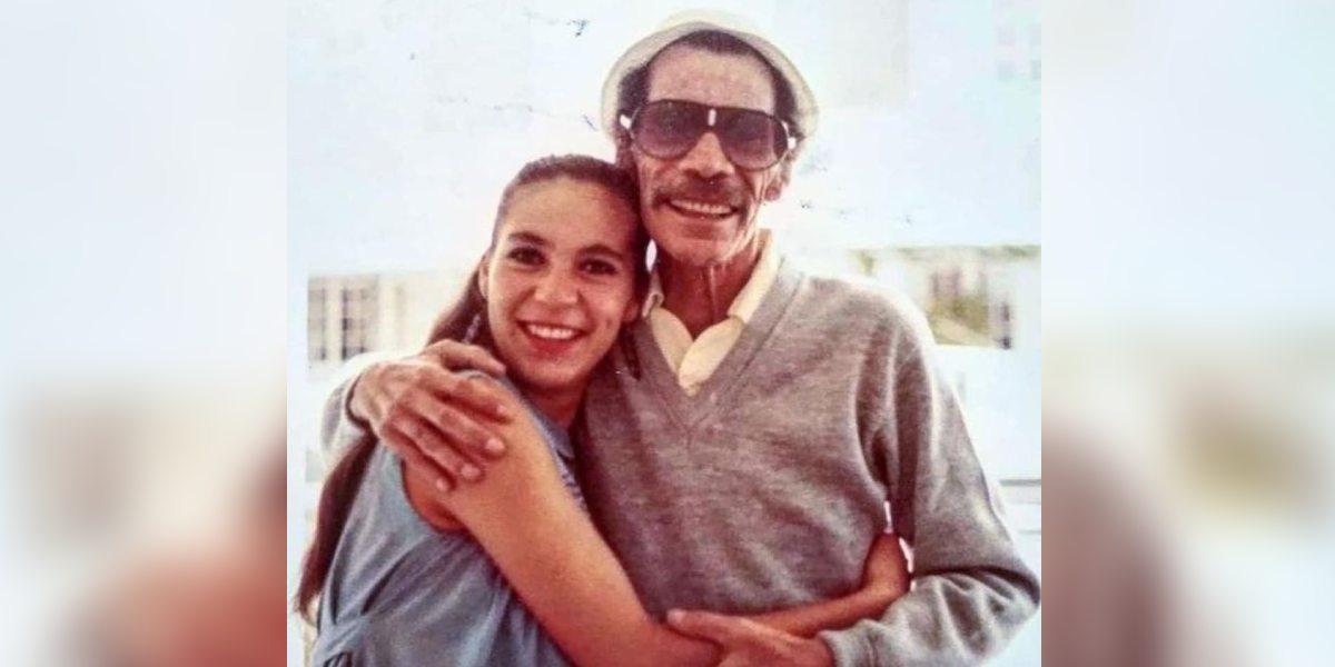 Revelan foto inédita de don Ramón Valdés junto a su hija