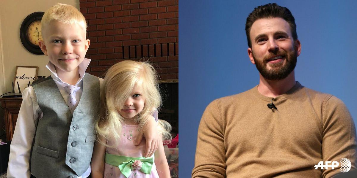 Chris Evans sorprende a niño que salvó a su hermana del ataque un perro