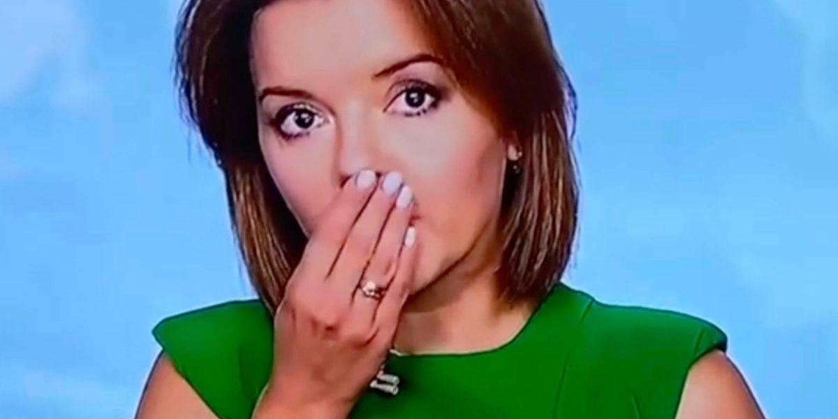 Marichka Padalko video presentadora que se le cae diente en vivo