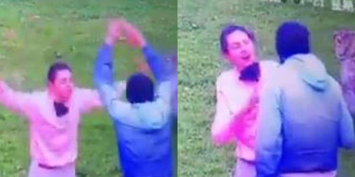 hombre golpeó a mujer
