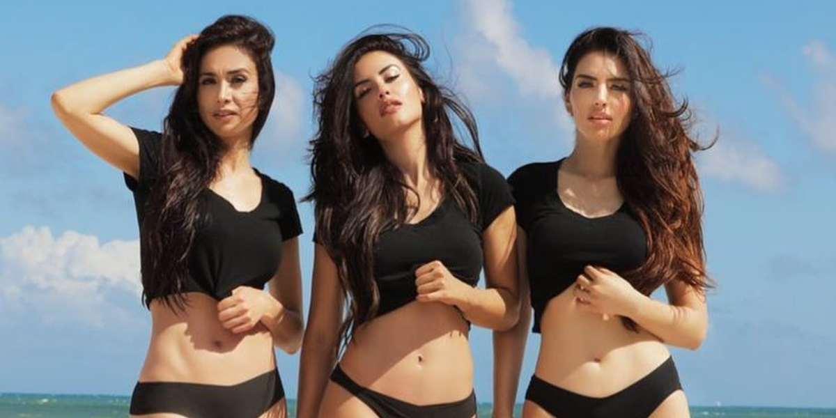 Jessica Cediel y sus hermanas