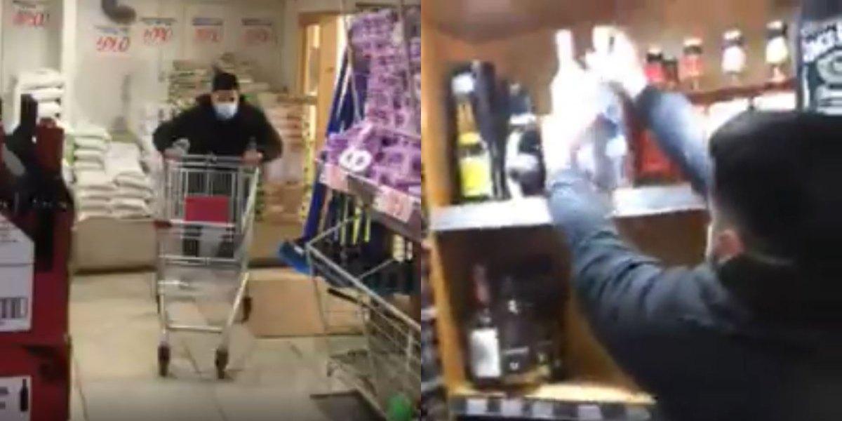 video colombiano supermercado chile minuto feliz licor