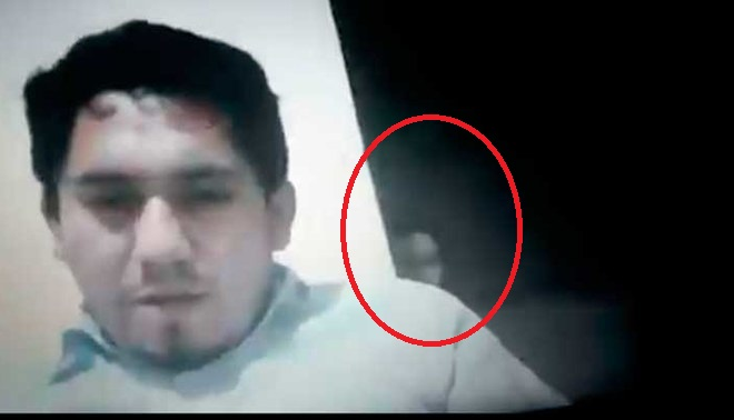 Se apareció fantasma en clase de zoom
