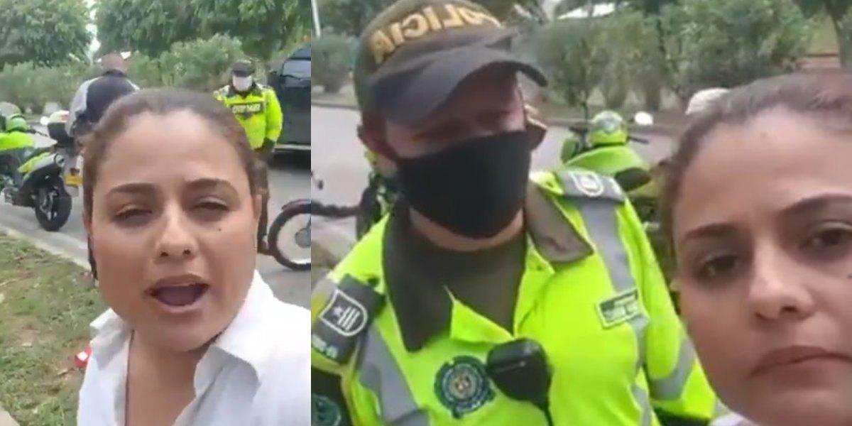 mujer quiso denunciar policia sin casco soat tecnomecanica