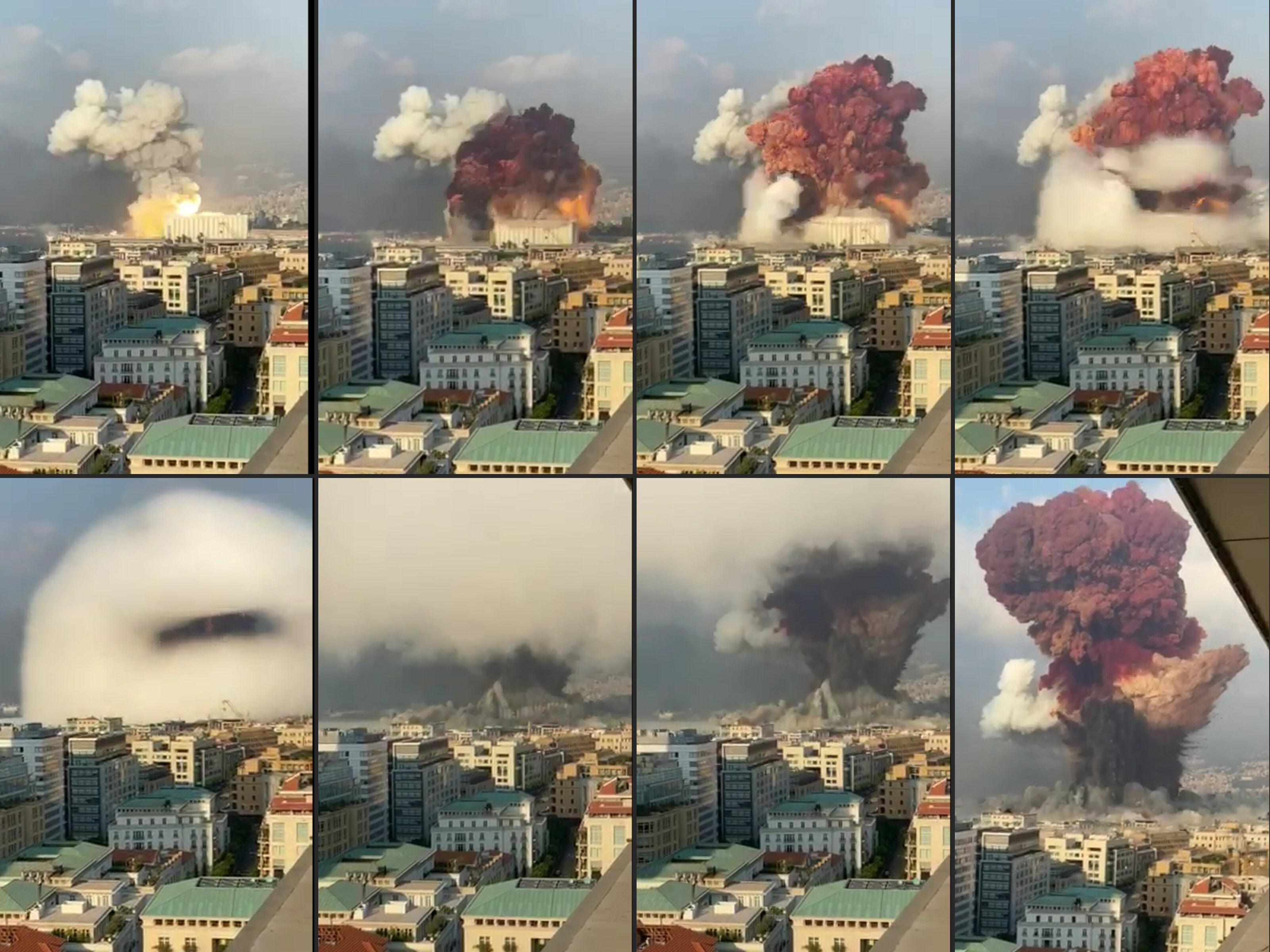 Así se registró la explosión de Beirut
