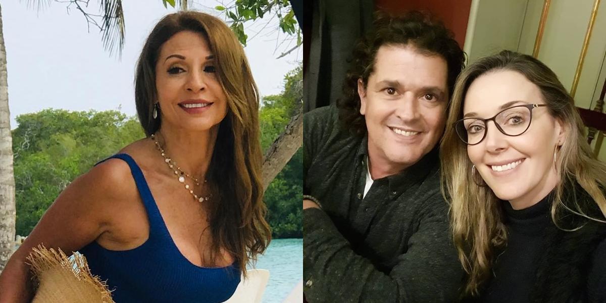 Amparo Grisales, Carlos Vives y Claudia Elena