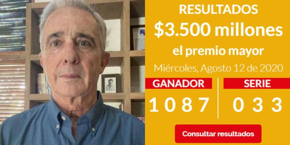 Cayó lotería con número de preso de Uribe
