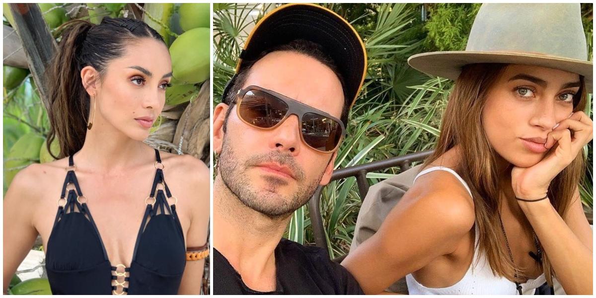 Carolina Guerra y Diego Cadavid con su novia
