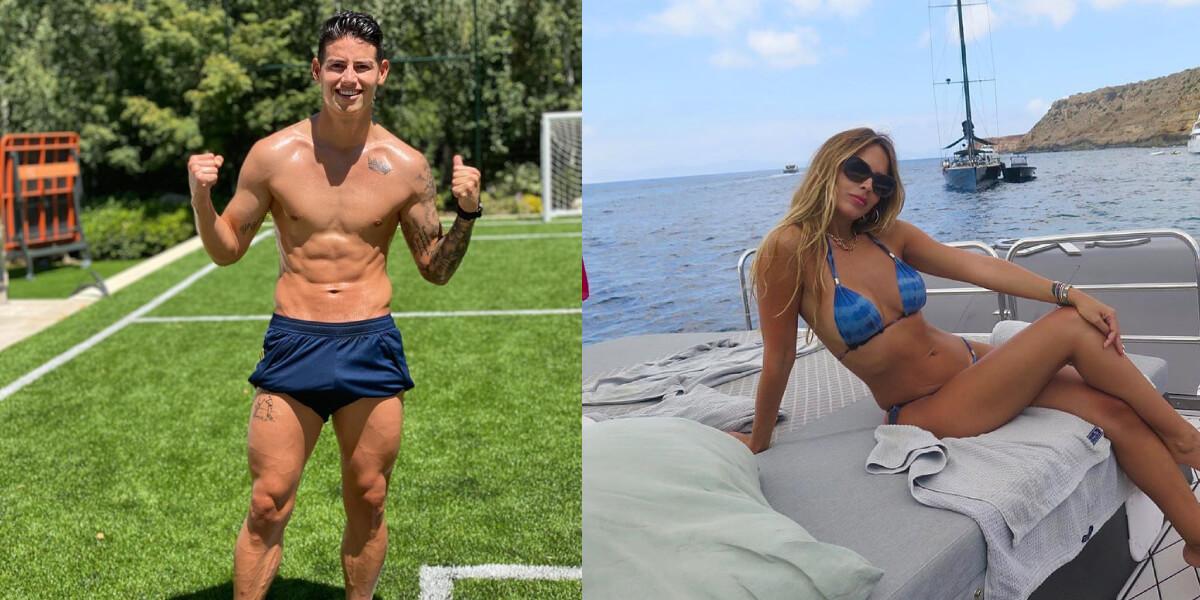 Con romántica foto, Shannon de Lima felicita a James por su fichaje al Everton