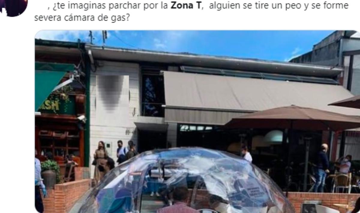«Como para un mal olor», dicen por cubículo de restaurantes ubicado en Bogotá