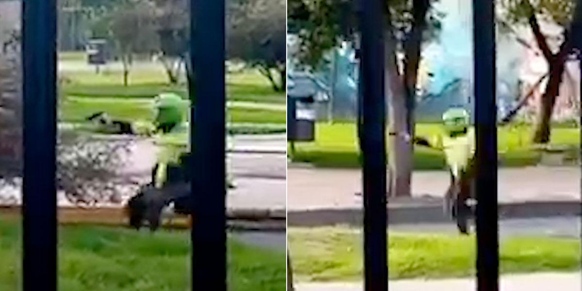 En video quedó registrado cómo un policía dispara sin piedad a  manifestantes en Bogotá - Noticentro 1 CM&