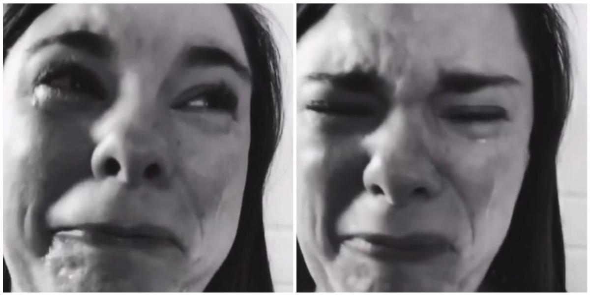 Madre llora desconsolada por fiesta de cumpleaños de su hijo