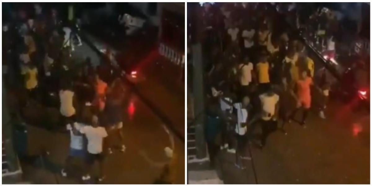 Fiesta en plena calle en Istmina, Chocó