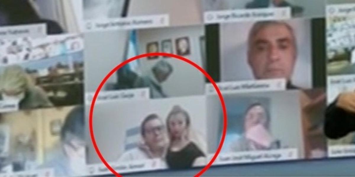 Diputado tocó a una mujer en plena sesión virtual