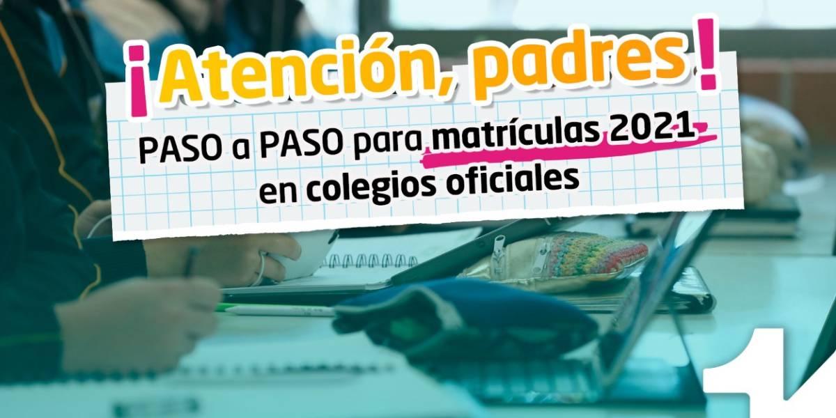 Matrículas escolares colegios oficiales de Bogotá 2021